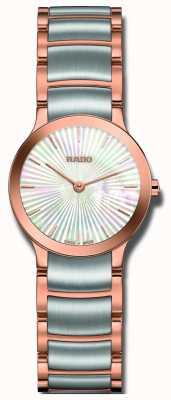 RADO Centrix zweifarbige Perlenuhr aus Edelstahl R30186923