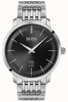 Boss | Herren Premium Klassiker | Edelstahl | schwarzes Zifferblatt | 1513746