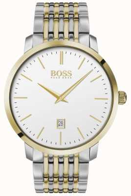 Boss | Männer | premium classic | zweifarbig | silbernes Zifferblatt | 1513747