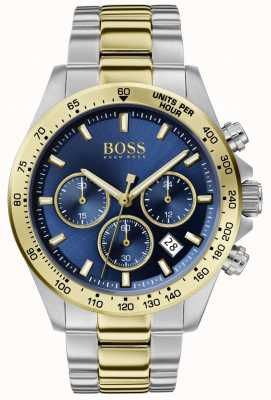 BOSS | Herrenheld Sport Lux | zweifarbiges Armband | blaues Zifferblatt | 1513767