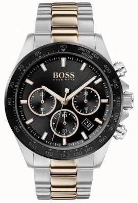 Boss | Männer | hero sport lux | zweifarbiges Armband | schwarzes Zifferblatt | 1513757
