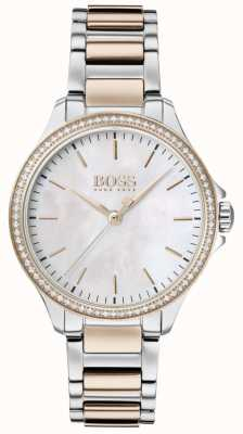 BOSS | Diamanten für sie zweifarbiges Armband | Perlmutt 1502524