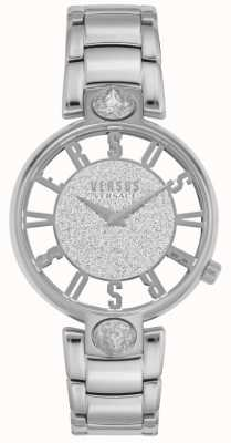 Versus Versace | Frauenkirstenhof | silbernes Stahlarmband | Glitzer-Zifferblatt VSP491319