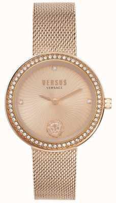 Versus Versace | Frauen léa | Roségold-Mesh-Armband | roségoldfarbenes Zifferblatt | VSPEN0919