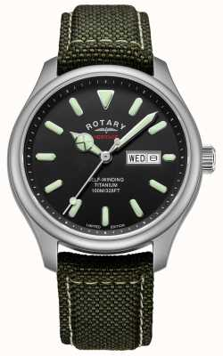 Rotary | Herren Heritage Automatik | Titangehäuse | khakiband | GS05249/04