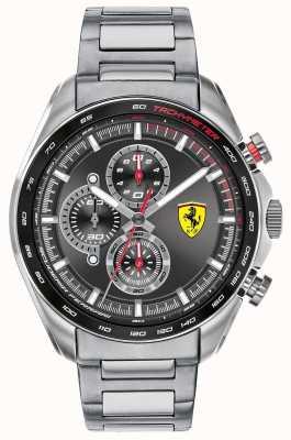 Scuderia Ferrari | Speed-Racer für Herren | Edelstahlarmband | schwarzes Zifferblatt 0830652