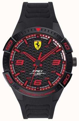 Scuderia Ferrari | Herrenspitze | schwarzes Kautschukband | schwarz / rotes Zifferblatt | 0830662