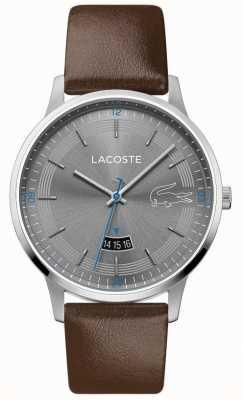 Lacoste | Männer Madrid | braunes Lederband | graues Zifferblatt | 2011033