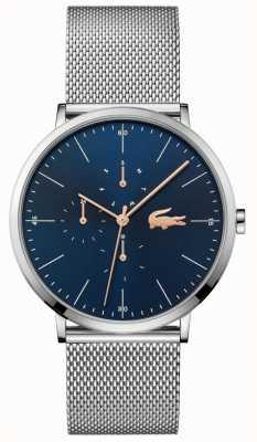 Lacoste | Herren Mond Multi | stahlgeflecht armband | blaues Zifferblatt | 2011024