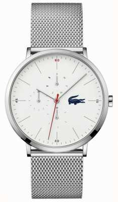 Lacoste | Herren Mond Multi | Edelstahl-Mesh-Armband | weißes Zifferblatt | 2011025