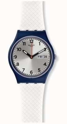 Swatch | ursprünglicher gent | weiße entzückungsuhr | GN720