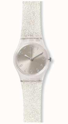 Swatch | ursprüngliche Dame | silberner glistar zu sehen | LK343E