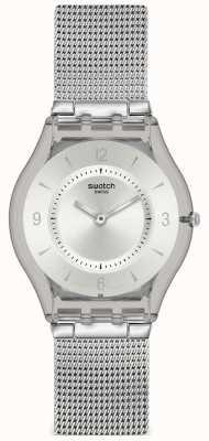 Swatch | Haut Klassiker | Metall-Strickuhr | SFM118M
