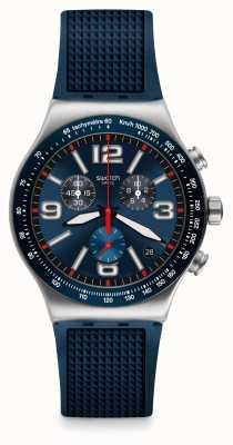 Swatch | neue ironie chrono | blaue Gitteruhr | YVS454