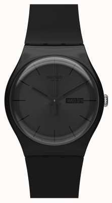 Swatch | neuer gent | schwarze Rebellenuhr | SUOB702
