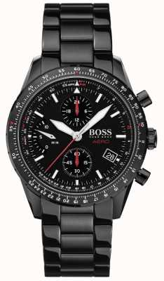 BOSS | aero | schwarzer Chronograph | schwarze Armbanduhr | 1513771