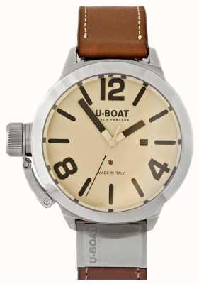 U-Boat Classico 50 Wolfram als 2 cremefarbenes Zifferblatt 8091