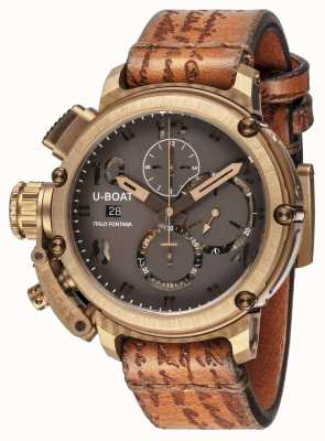 U-Boat Classico 45 Bronzetasche braunes Armband 8063