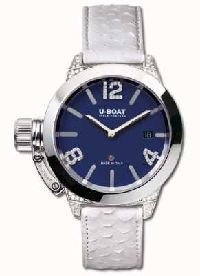 U-Boat Classico 40 ss blau weiße Diamanten 7077