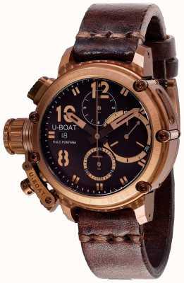 U-Boat Chimera chrono 43mm bronze braunes Armband 8014