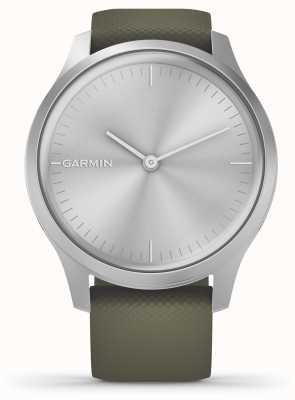 Garmin Vivomove-Stil | silbernes Aluminiumgehäuse | Moos Silikonband 010-02240-01