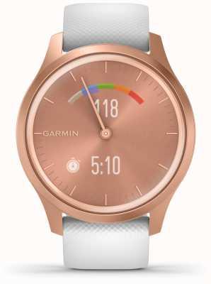 Garmin Vivomove-Stil | roségoldfarbenes Aluminiumgehäuse | weißer Gurt 010-02240-00