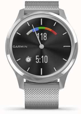 Garmin Vivomove 3 luxe | Edelstahlgehäuse | silbernes Mailänder Band 010-02241-03