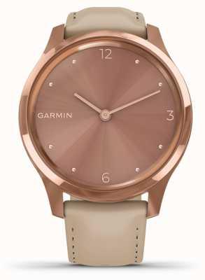 Garmin Vivomove luxe | 18 Karat Roségold pvd Fall | italienisches Leder 010-02241-01