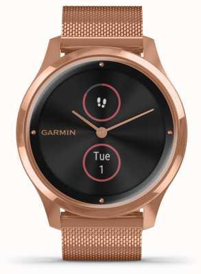 Garmin Vivomove luxe | 18ct pvd hülle | roségoldfarbenes Armband aus Mailand 010-02241-04