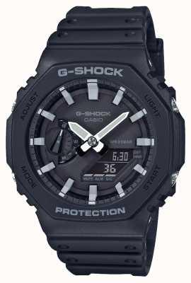 Casio | g-shock kohlenstoffkern | Achteck-Serie | schwarzes Harzarmband | GA-2100-1AER