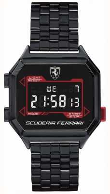 Scuderia Ferrari | Männer Digidrive | ionenplattiertes Armband | schwarzes Zifferblatt | 0830704