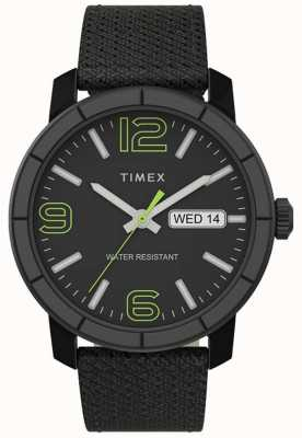 Timex | herren mod 44mm | schwarzes Nylonband | schwarzes Zifferblatt | TW2T72500