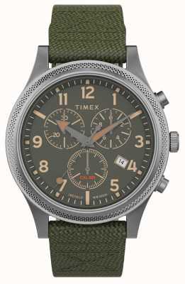 Timex | alliierte lt chrono 40mm | grünes Gewebeband | grünes Zifferblatt | TW2T75800