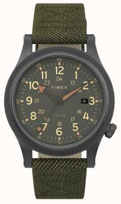 Timex | alliierte lt 40mm | grauer Fall | grünes Gewebeband | TW2T76000