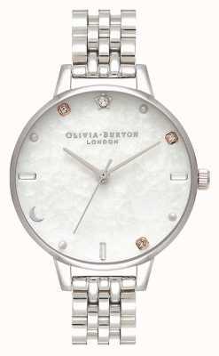 Olivia Burton | Himmelsstern und Mond Silberarmband | Perlmutt OB16GD30