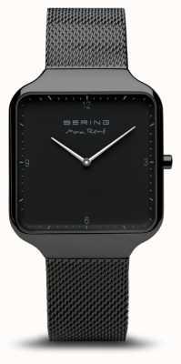 Bering | max rené | schwarzes stahlgitter armband | schwarzes zifferblatt | 15836-123