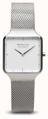 Bering | max rené | damen silber poliert | stahlgeflecht armband | 15832-004