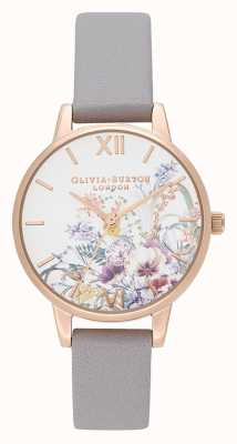 Olivia Burton | Frauen | verzauberter Garten | graues lila Lederband | OB16EG150
