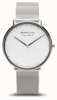 Bering | max rené | Herren Silber poliert | silbernes mesh armband | 15738-004