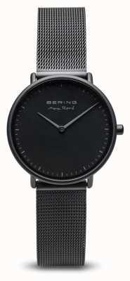 Bering | max rené | Damenmatte schwarz | schwarzes Stahlgitterarmband | 15730-123