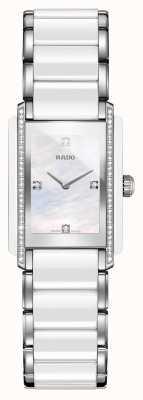 RADO Integrale Diamant-Hightech-Keramikuhr mit quadratischem Zifferblatt R20215902