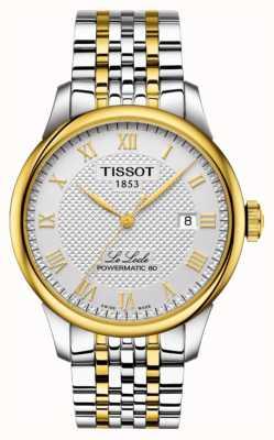 Tissot | le locle powermatic 80 | zweifarbiges Edelstahlarmband T0064072203301