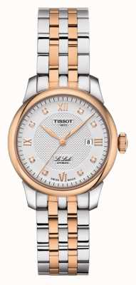 Tissot | le locle | zweifarbiger Edelstahl | silbernes Zifferblatt | T0062072203600
