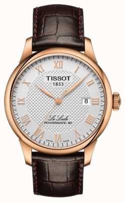 Tissot | le locle | powermatic 80 | braunes Lederband | T0064073603300