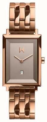 MVMT Unterschrift Quadrat | rosévergoldeter Edelstahl | D-MF03-RG