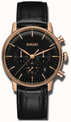 RADO Coupole klassischer Quarz Chronograph schwarz Zifferblatt R22911165