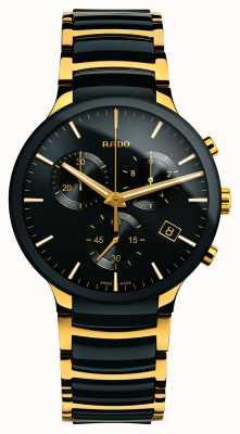 Rado Centrix Chronograph xl goldfarbene Hightech-Keramik R30134162