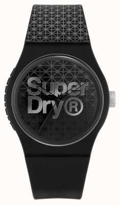 Superdry Urban Geo Sport | schwarz / graues Silikonarmband | schwarz / graues Zifferblatt SYG268B