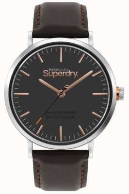 Superdry Oxford | braunes Lederband | braunes Zifferblatt | SYG287BR