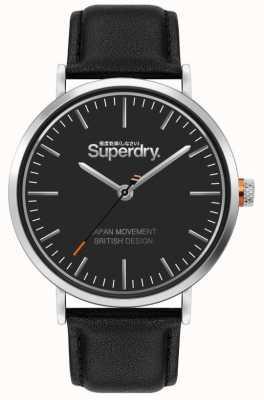 Superdry Oxford | schwarzes Lederband | schwarzes Zifferblatt | SYG287B